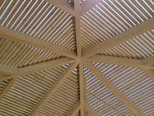 גג פרגולה מעץ אורן